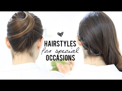 Hairstyles For Special Occasions Youtube Easy Lazy Hairstyles