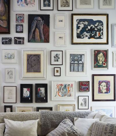 Cohesive Art Theme Gallery Wall