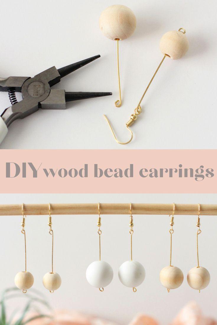 Photo of 10 Minute Makes | Minimal Wood Bead Earrings | BlissMakes