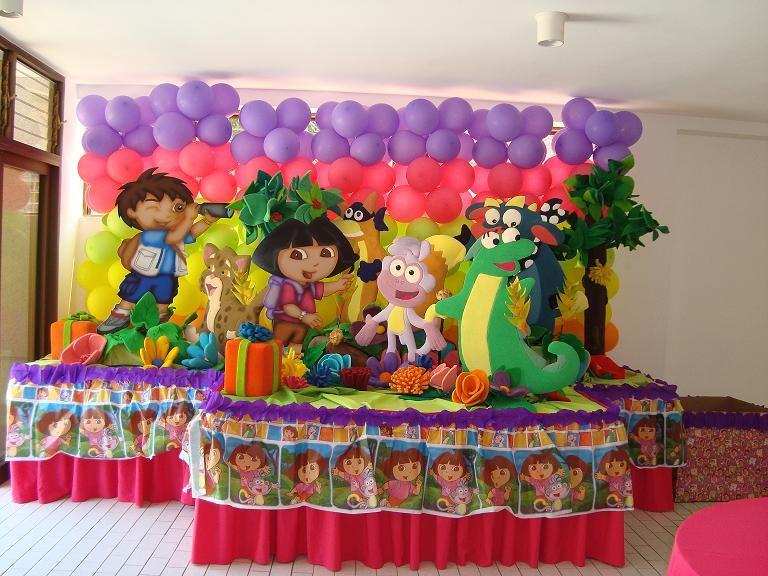 Fiestas tematicas decoracion de dora la exploradora para - Decoracion cumpleanos nina ...