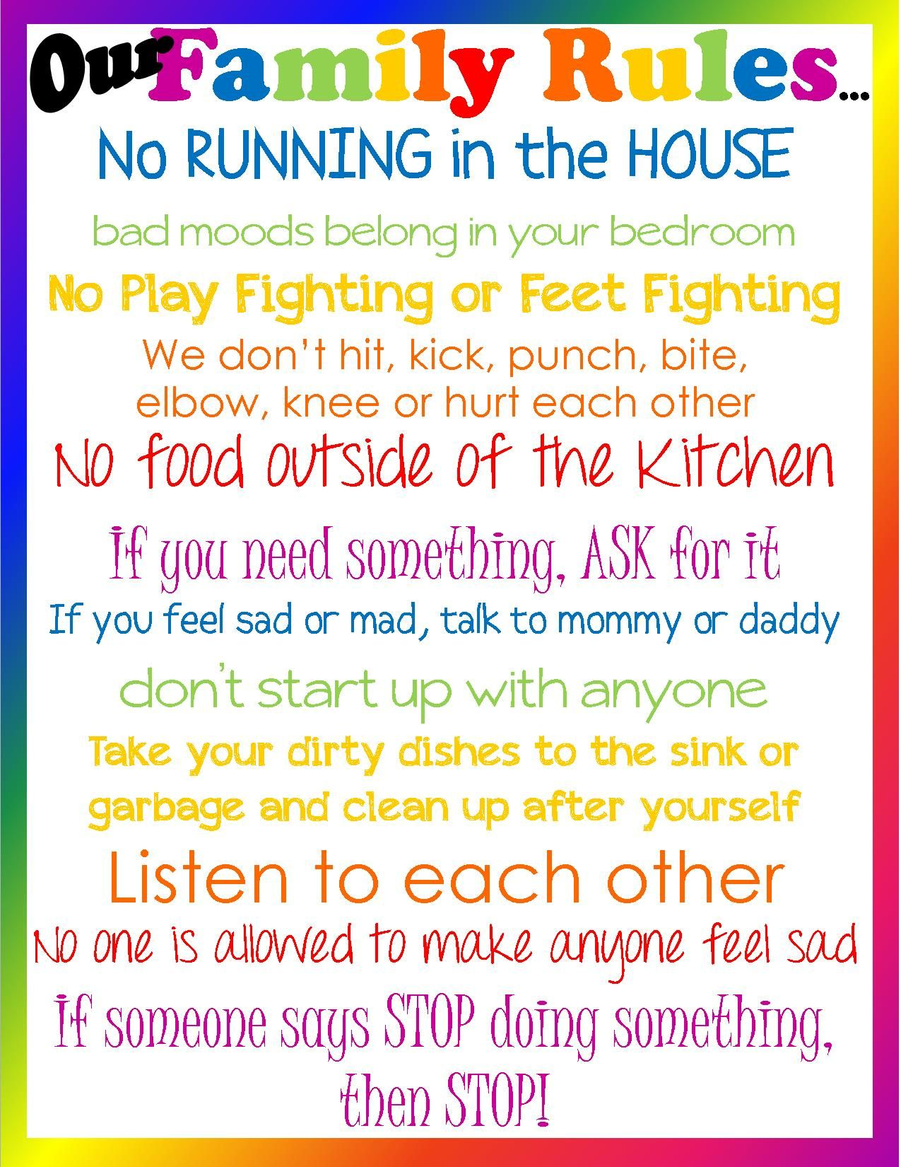 Common Parenting Rules That Should Be Broken Our Family