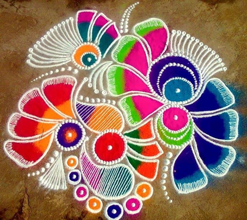 100+ Best Rangoli Designs For Diwali 2020: Easy & Simples Pattrens in 2020  | Rangoli designs diwali, Easy rangoli patterns, Rangoli kolam designs
