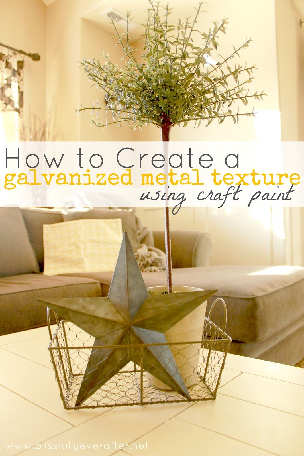 How to Create a Galvanized Metal Texture {using craft paint ...