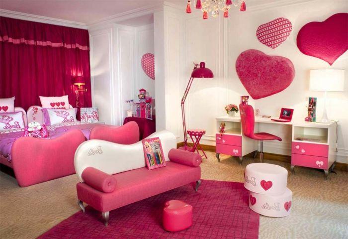 rosiges schickes luxus jugendzimmer für mädchen Home Design