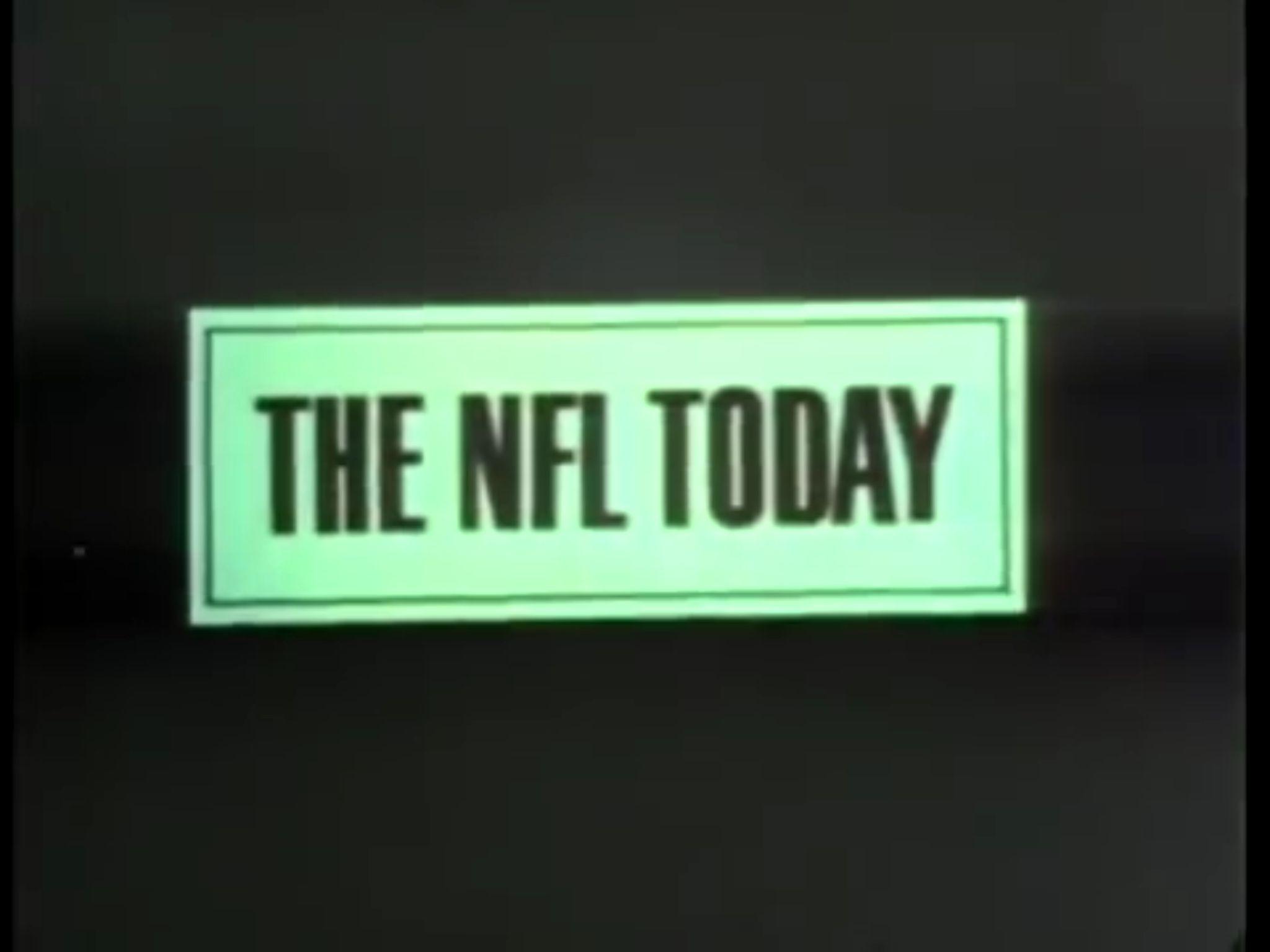 The NFL Today, 1969 CBS Sports Nfl today, Cbs sports, Nfl