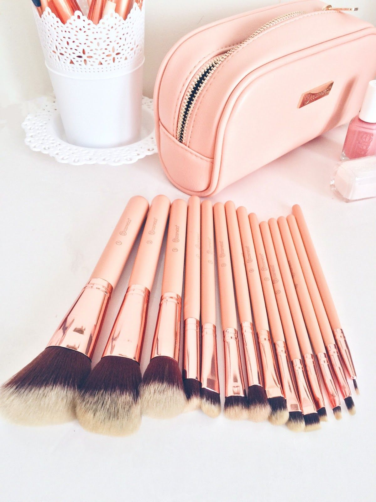 "BH Cosmetics ""BH Chic"" rose gold 14piece brush set Rose"
