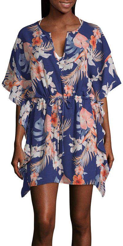 53c679b0cc Porto Cruz Floral Crepe Swimsuit Cover-Up Dress #Floral#Cruz#Porto ...