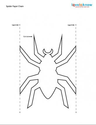 Template For Spider Garland Paper Doll Chain Chains Bowls