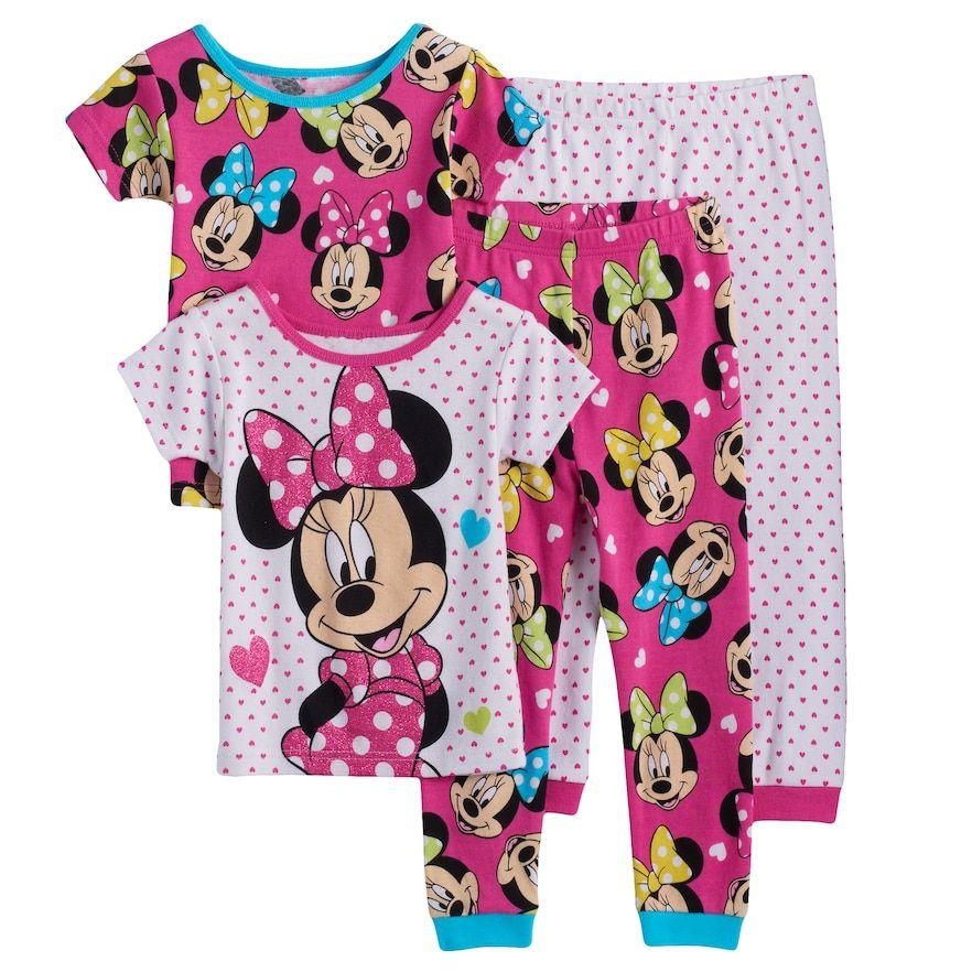 43b34d92c5ce Disney s Minnie Mouse Toddler Girl 4-pc. Pajama Set