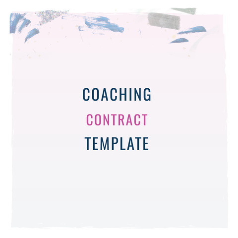 Are You A Coach Coaching Contract Template From The Contract Shop