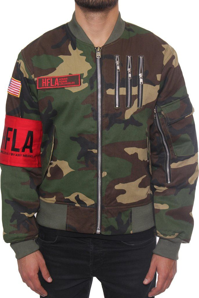 99a6017d4aa HFLA - Camo Bomber Jacket ( 155 USD)