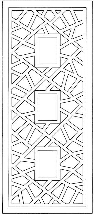 Abstract design for coloring mount this on solid colored Geometric coloring books for adults