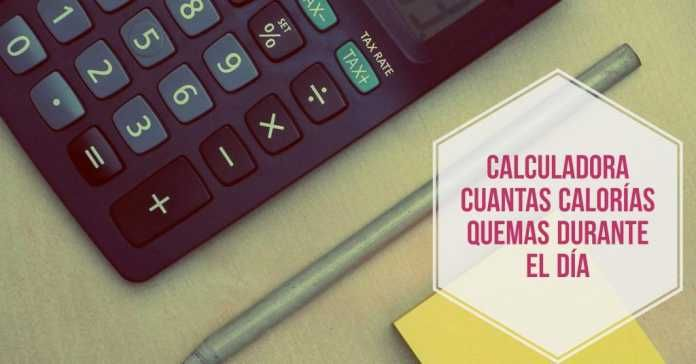 Cuantas calorias quemo al dia calculadora