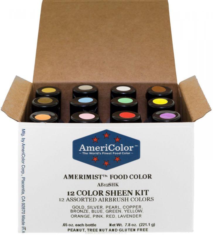 Food Coloring 183345: Americolor Amerimist Metallic And Pearl Sheen ...