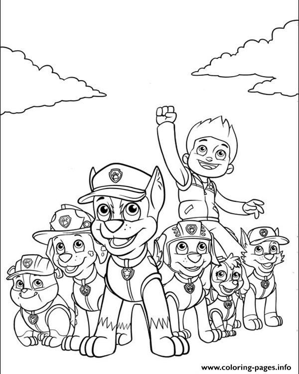 Print Paw Patrol Ryder And His Powerful Team Coloring