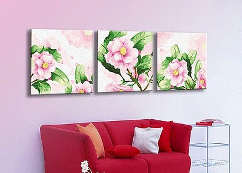 Картина по номерам «Розовая камелия» | Раскраска по ...