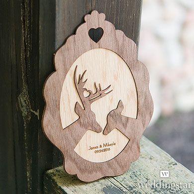 Personalized Wood Veneer Sign - Deer Sign