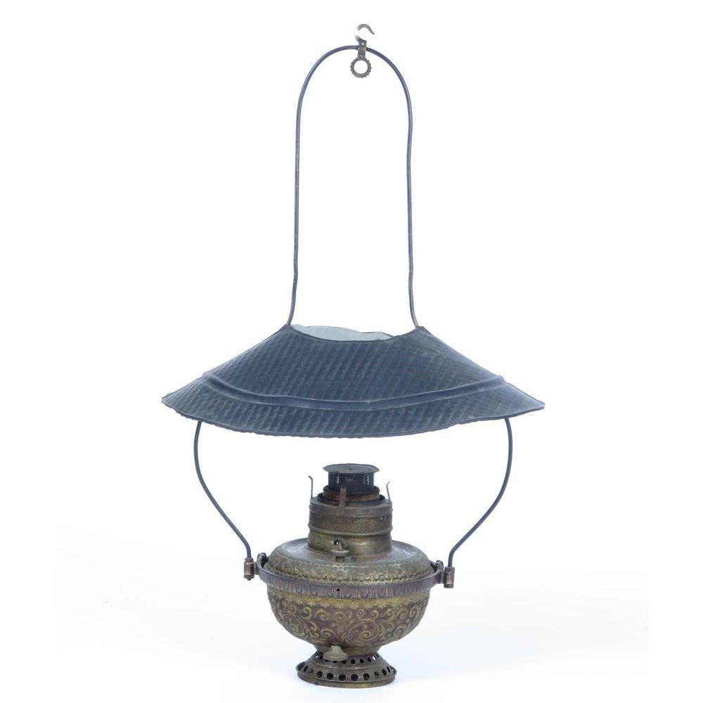 General store lantern antique oil kerosene hanging lamp c ...