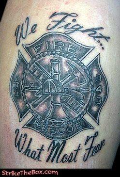 Cross On Fire Tattoo