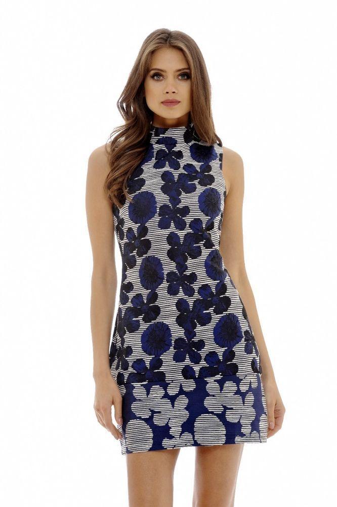 AX Paris Womens Embroidered Mini Bodycon Dress Glam Ladies Fashion