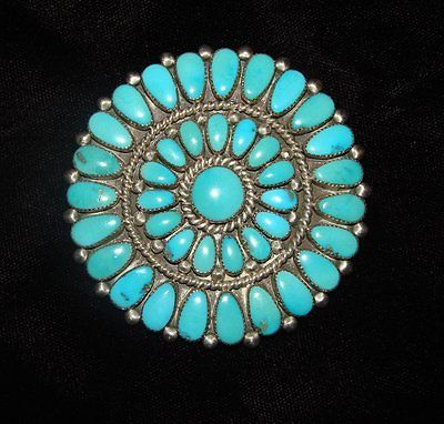 ALICE-QUAM-PENDANT-BROOCH-PIN-STERLING-SILVER-TURQUOISE-AQ-ZUNI-AMERICAN-INDIAN