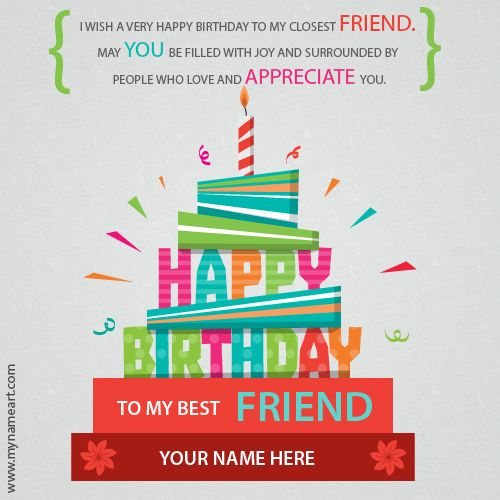 Birthday Card For Best Friend With Namecreate Happy Your