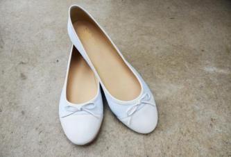 Bequem im Büro oder beim Shopping: Ballerinas in weiß - #MIAMODA