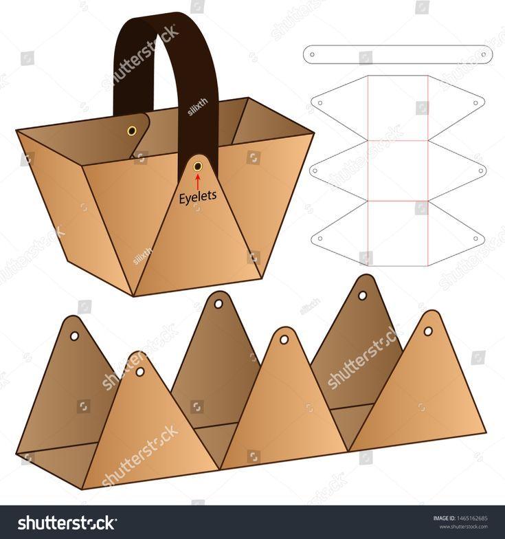 Kartonverpackung Die Cut Template Design Stock-Vektorgrafik (Lizenzfrei) 1465162685   - honar #prettypackaging