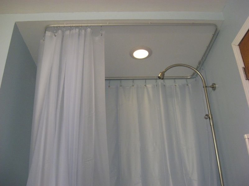 Oval Ceiling Track For A Shower Curtain Curtains Clawfoot Tub