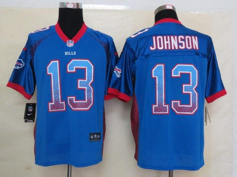 2013 new nike buffalo bills 13 johnson drift fashion blue elite jerseys