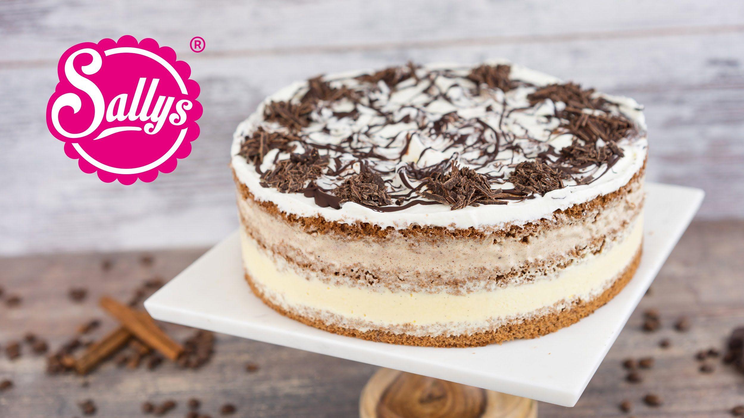 Eistorte mit Vanille und Zimtparfait Naked Cake