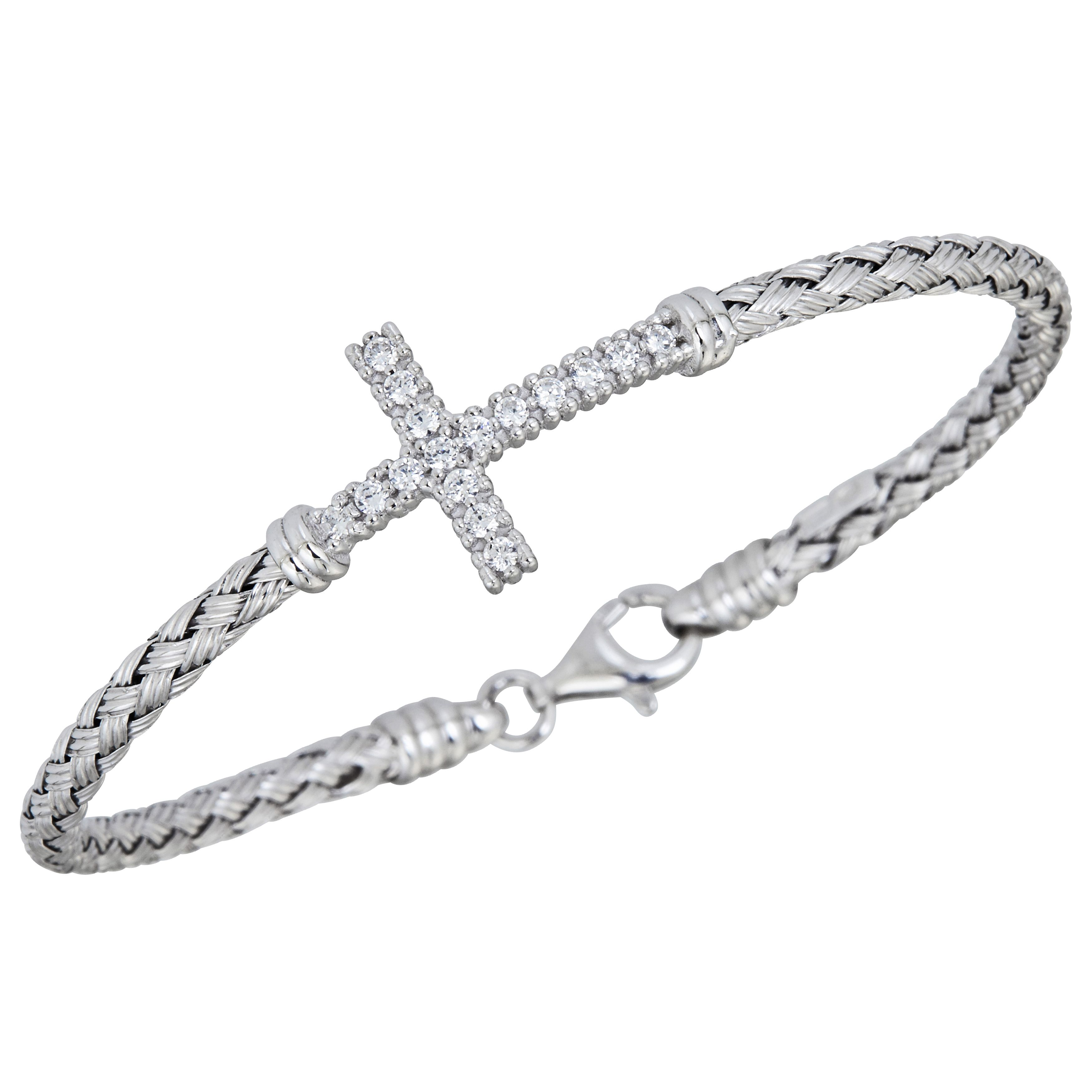 bracelet uk horizontal sterling spo shop collections online chain cross popcorn silver