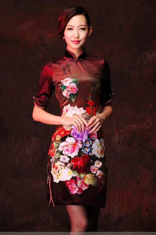 df9a39179 #qipao Oriental Fashion, Oriental Dress, Asian Style, Chinese Style, Chinese  Theme