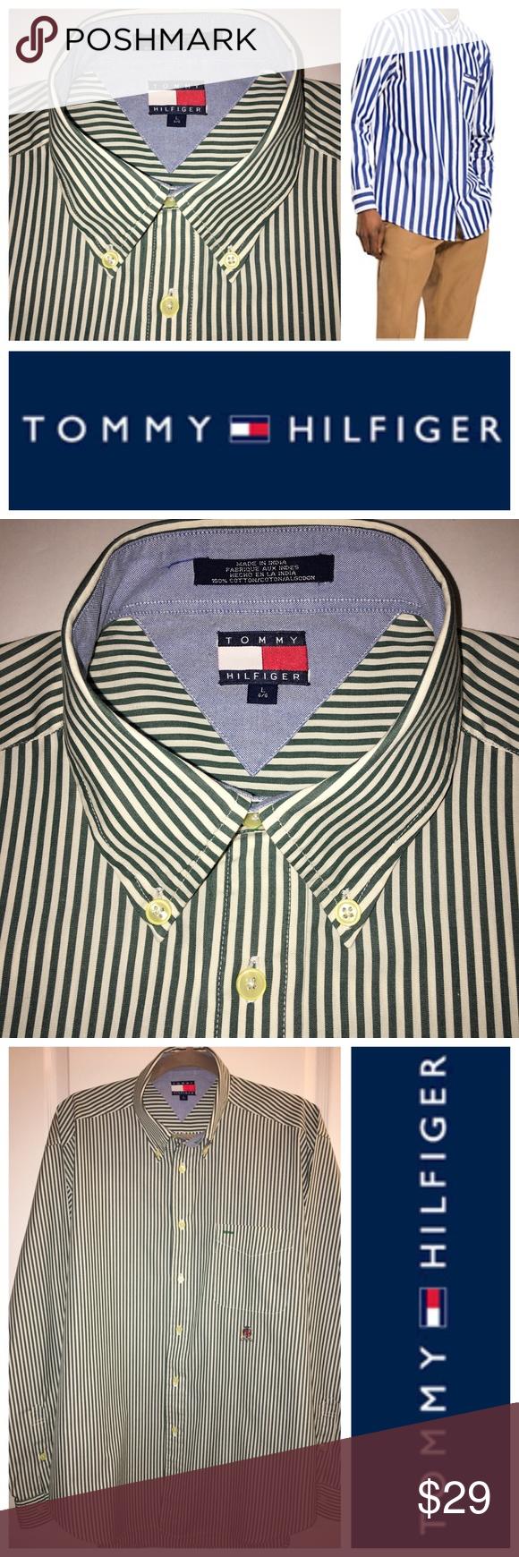 Men S Tommy Hilfiger Long Sleeve Button Down Shirt Tommy Hilfiger Long Sleeve Tommy Hilfiger Hilfiger [ 1740 x 580 Pixel ]