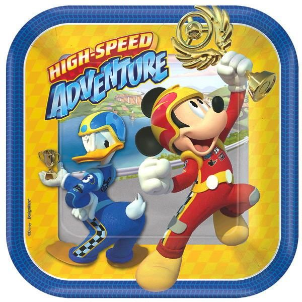 Disney Mickey And The Roadster Racers Plates Mickey Mouse