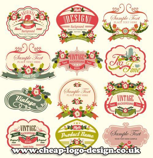 Retro Floral Label Design Ideas Www Cheap Logo Design Co Uk Retrolabels Florallabels Retrologos Vintage Labels Vintage Text Vintage Logo