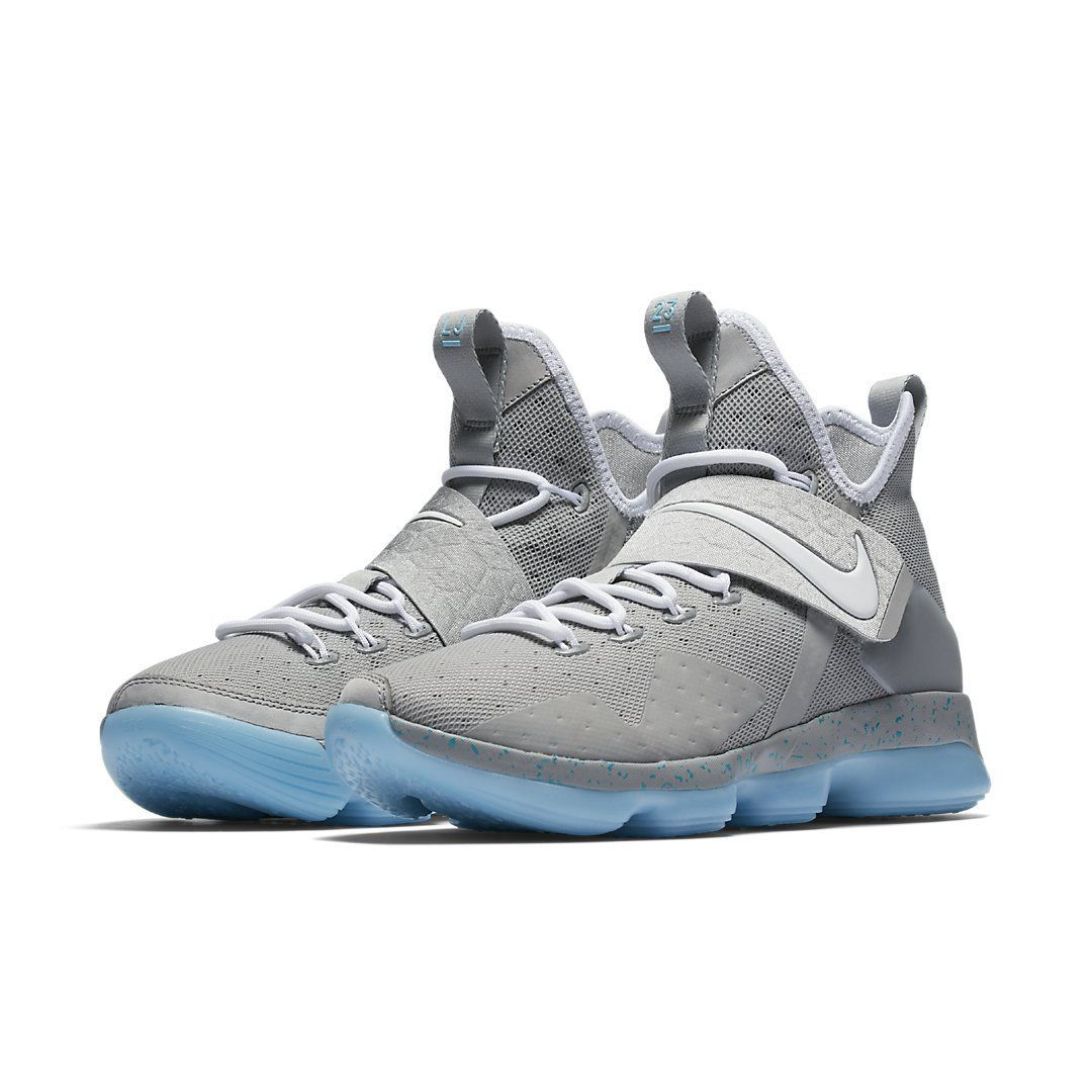 LeBron 14 Mag / 852405-005 / Men Nike XIV Summer Marty McFly Silver White