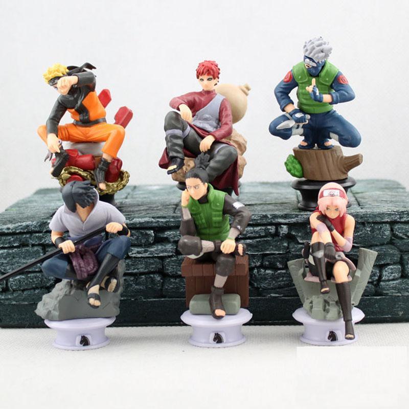6 Piece Naruto Action Figure Set Anime Memes De Anime Ver