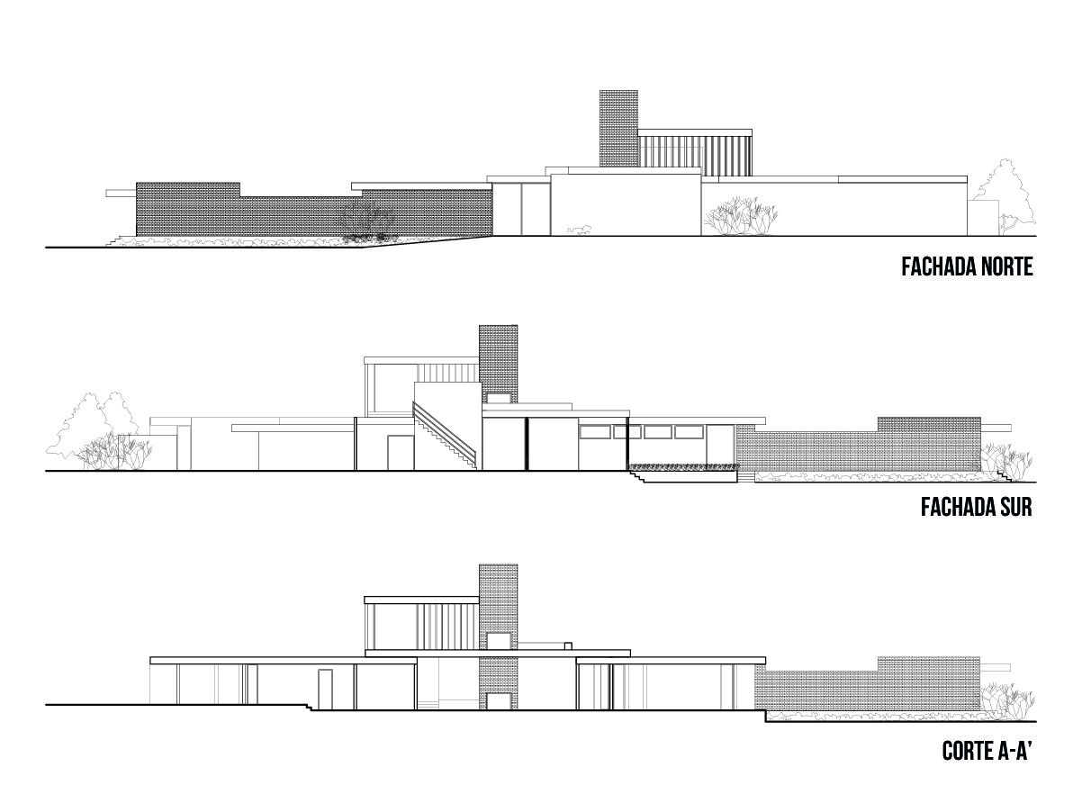 Galer a de Cl sicos de Arquitectura Casa Kaufmann Richard Neutra – Richard Neutra Kaufmann House Floor Plans