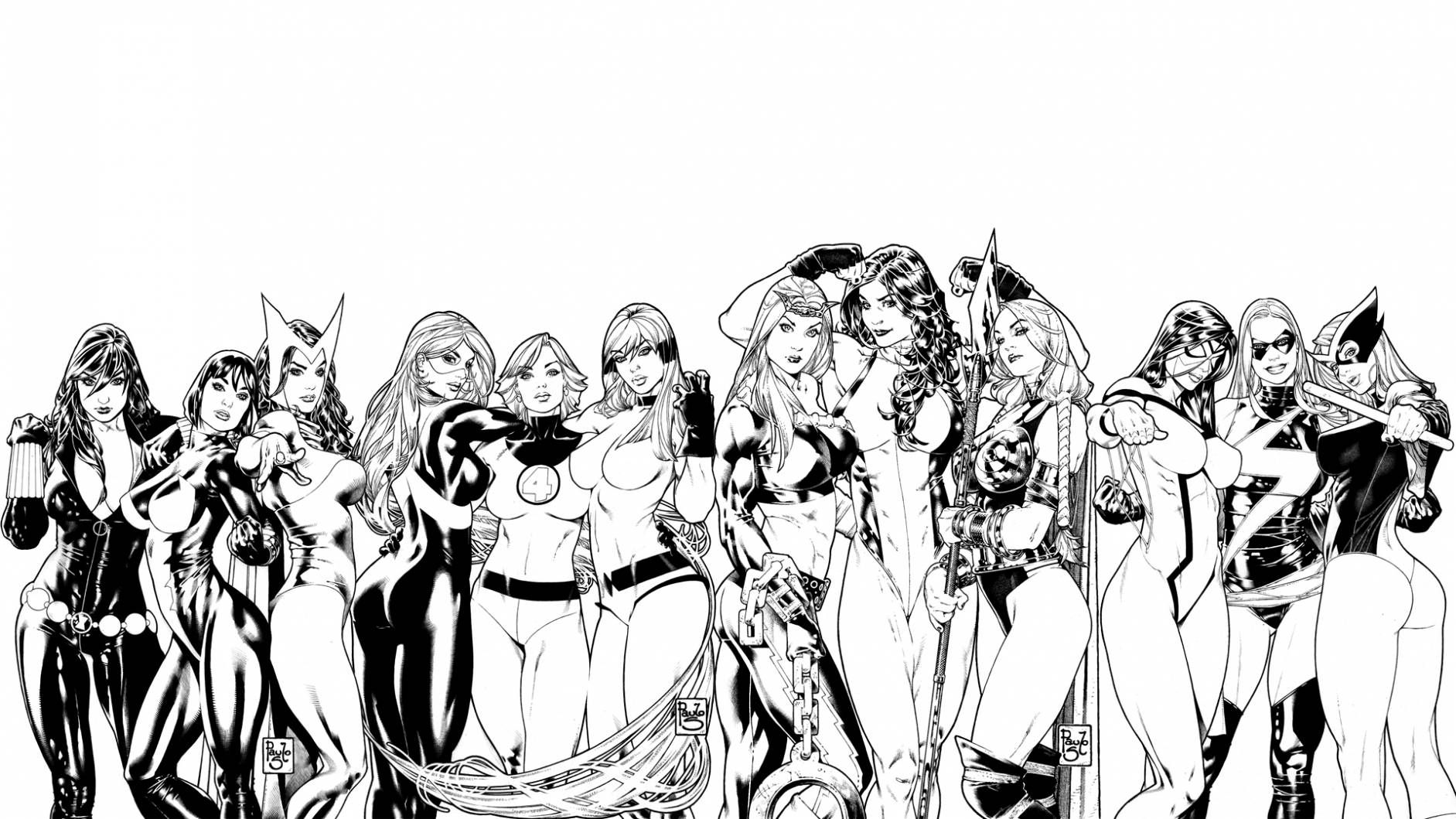 The Women Of Marvel By Paolo Sequeira Comic Art Community Dc