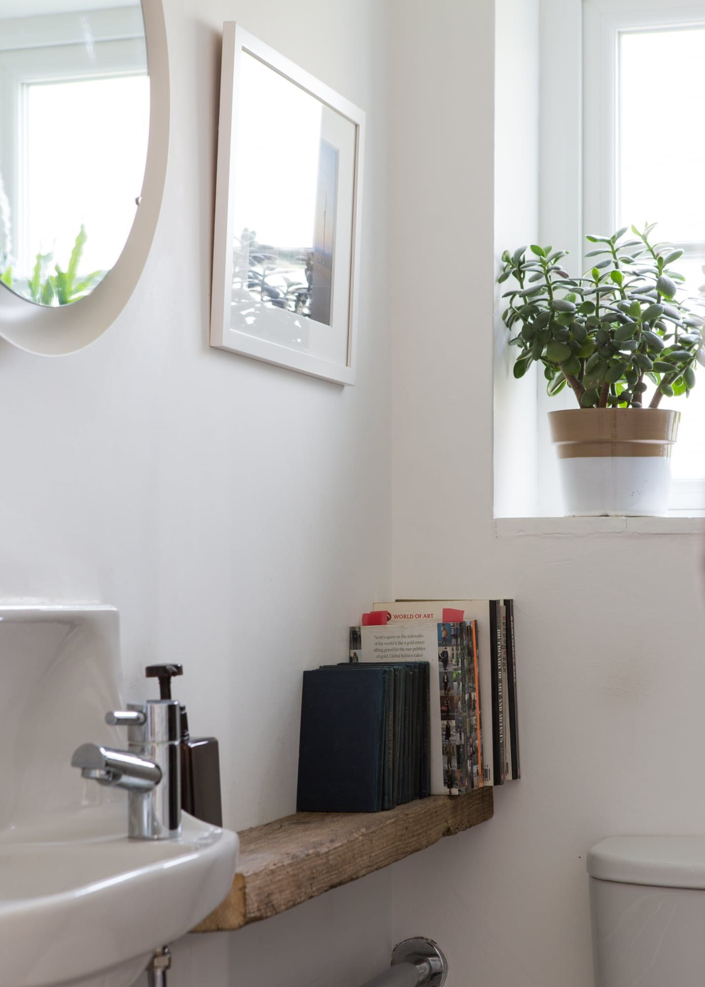 House Tour: A Cozy Cool Modern Country UK Home   Powder room ...