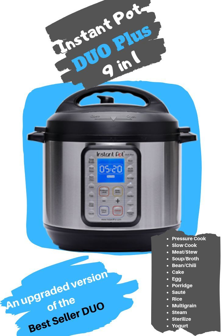 Instant Pot Duo Plus 6 qt 9 in 1 Review 2019 Instant Pot IP-DUO Plus60 9-in-1 Electric Pressure Cooker – Review 2019