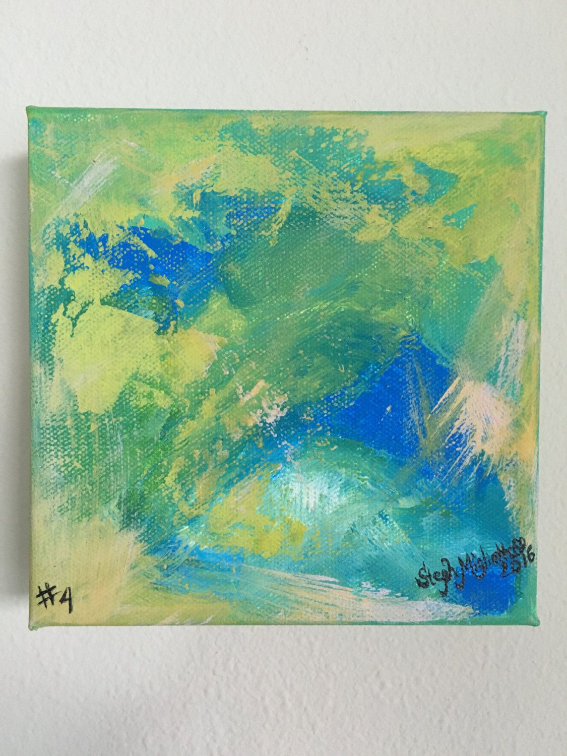 Abstract 6x6 Painting, Original Art, Abstract Expressionism, Wall Art, Office  Art,