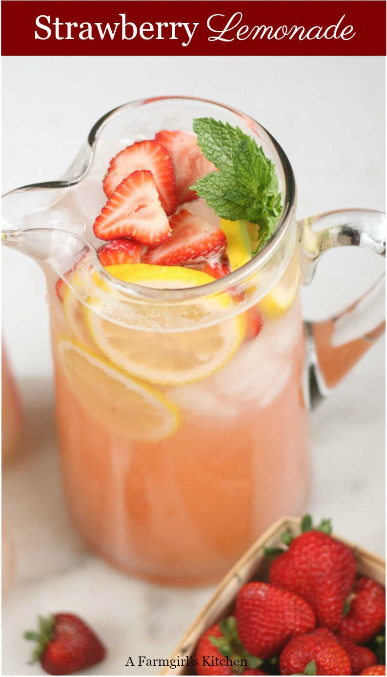 Ultimate Homemade Strawberry Lemonade (uses simple ingredients)