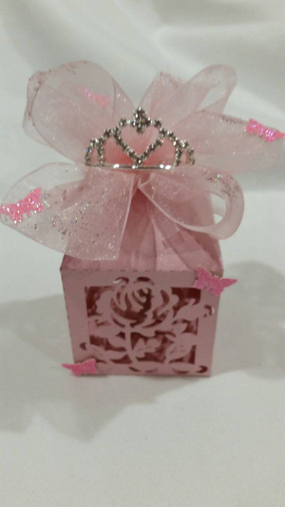 12 pcs Princess theme party favor Check out this item in my Etsy shop https://www.etsy.com/listing/250257979/12-pcs-pink-rose-with-tiara-party-favors