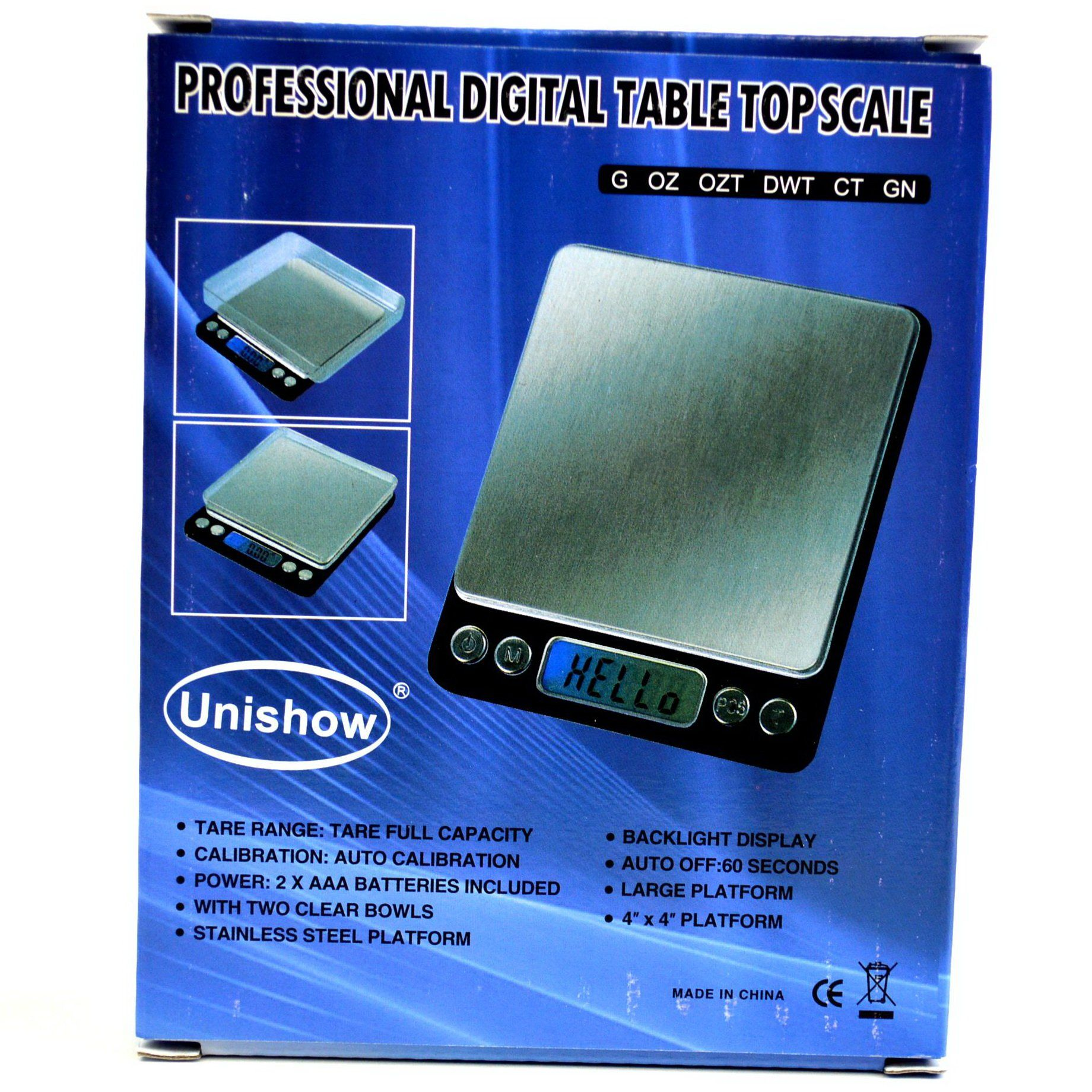 Unishow 500g X 001g Digital Precision Table Top Kitchen Portable Reload 500 Scale Jewelry Coins