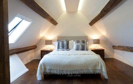 Den Sternen So Nah Schlafen Unter Der Dachschrage Das Haus Schlafzimmer Im Dachgeschoss Schlafzimmer Design Schlafzimmer Dachschrage