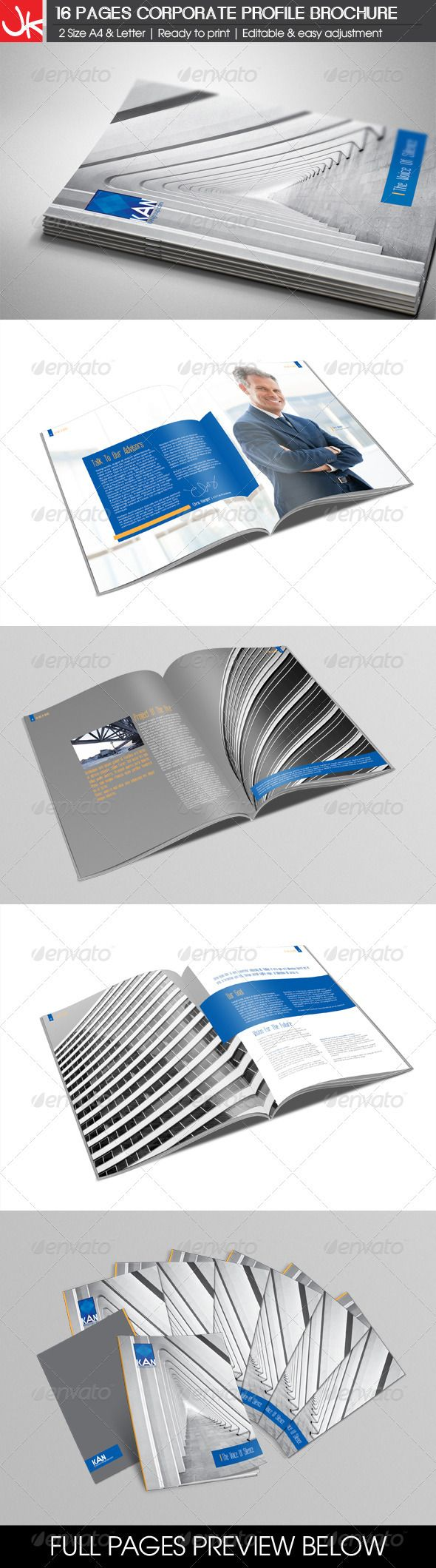16 Pages Corporate Profile Brochure – Corporate Profile Template