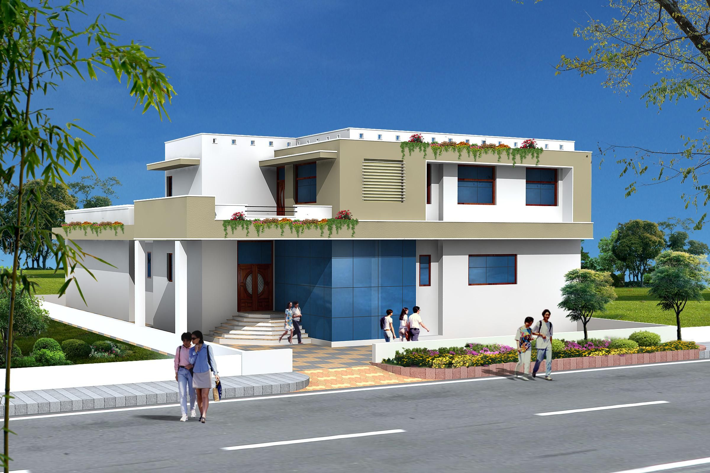 Front elevation of house design in india 1 Pinterest