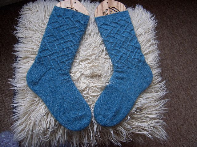 sarahbelle's Sam Possum Socks - Cookie A sock pattern knit with Zealana Kauri Fingering